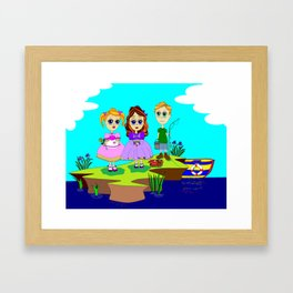 The Picnic by the Sea, Nautical Framed Art Print