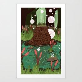 Toad Sage Art Print