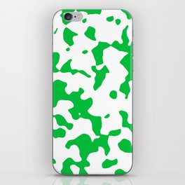 Large Spots - White and Dark Pastel Green iPhone Skin