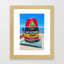 Most Southern Point Framed Art Print