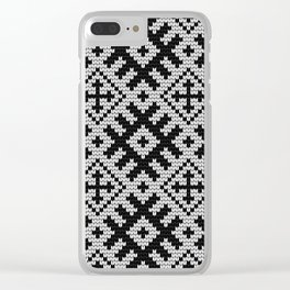 Pattern in Grandma Style #24 Clear iPhone Case