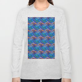 Colorful  blue scales Long Sleeve T-shirt