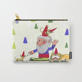 A gnome, two dogs, and a cat Carry-All Pouch