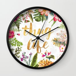 Thug Life - white version Wall Clock