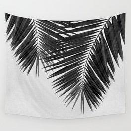 Palm Leaf Black & White II Wall Tapestry