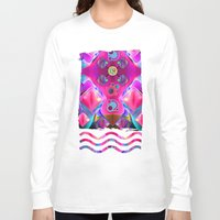 diamonds Long Sleeve T-shirts featuring Diamonds by thea walstra