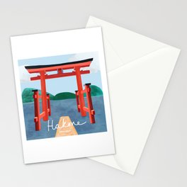 A Torii Gate in Hakone, Japan Stationery Cards