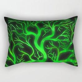 Emerald Branches Rectangular Pillow