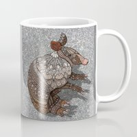 ornate Mugs featuring Ornate Armadillo by ArtLovePassion