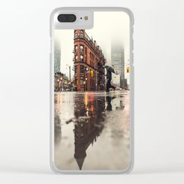 RAIN - WET - MAN - LIGHT - STREET - PHOTOGRAPHY Clear iPhone Case