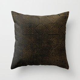 Gold Optical Illusion Pattern Throw Pillow