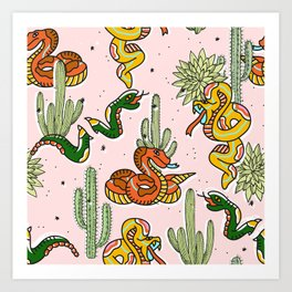 Join Or Die #illustration #wildlife #pattern Art Print