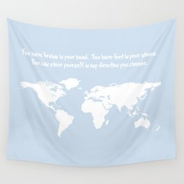 Dr. Seuss inspirational quote with earth outline Wall Tapestry