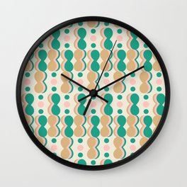 Uende Cactus - Geometric and bold retro shapes Wall Clock