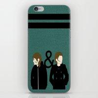 tegan and sara iPhone & iPod Skins featuring tegan & sara by lizbee