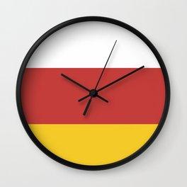 flag of North Ossetia Or Alania Wall Clock