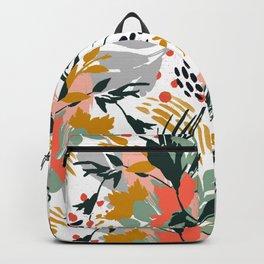 Botanical brush strokes I Backpack