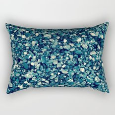 Pebbles in Blueish Rectangular Pillow