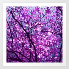 purple tree XXXIII Art Print