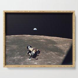 Apollo 11 Lunar Module Moon & Earth Serving Tray