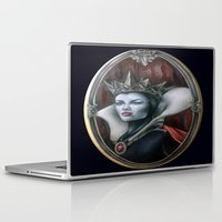 evil queen Laptop & iPad Skins featuring Evil Queen by Yehsiming Jue