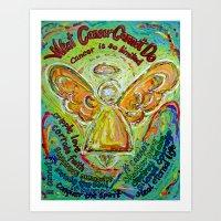 Rainbow Cancer Angel Art Print