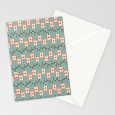 Geo Flower Line Stationery Cards
