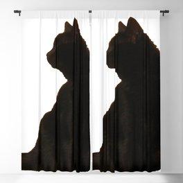 Halloween Black Cat Silhouette  Blackout Curtain
