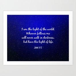 Light of the World - Bible Verse Galaxy Version Art Print