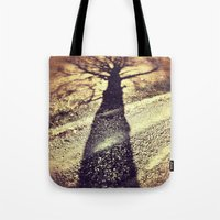 shadow Tote Bags featuring Shadow by Jessica Morelli