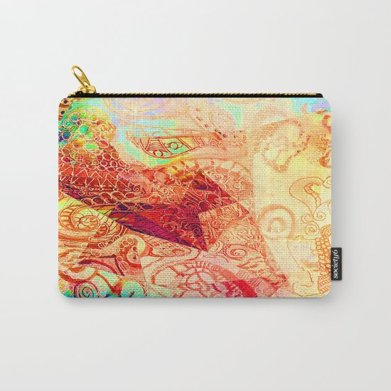 Red Heart Swirl Carry-All Pouch