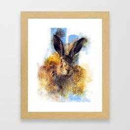 Wild Hare Framed Art Print