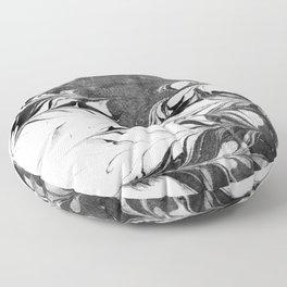 Marble Suminagashi 3 watercolor pattern art pisces water wave ocean minimal design Floor Pillow
