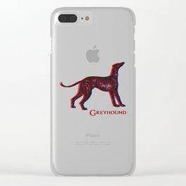 Greyhound Dog   Animal Art Design Clear iPhone Case
