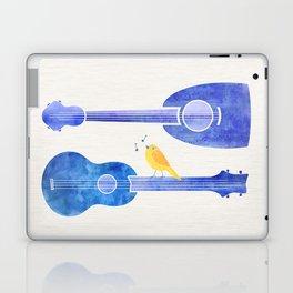 Songbird Blues ~ Cute bird on ukulele Laptop & iPad Skin