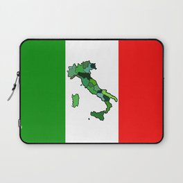 Map of Italy and Italian Flag Laptop Sleeve
