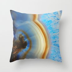 Iced Agate  Throw Pillow