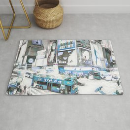 Times Square II (colour sketch style) Rug