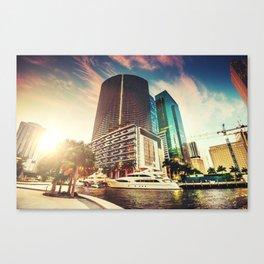miami downtown Canvas Print