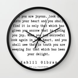 19   | Kahlil Gibran Quotes | 190701 Wall Clock