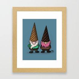 Ice Cream Gnomes Framed Art Print