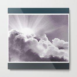 Sun Peeking Over The Clouds Metal Print