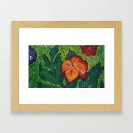 orange hibiskus flower paint Framed Art Print