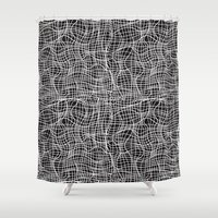 grid Shower Curtains featuring Grid by ChantalNathalie