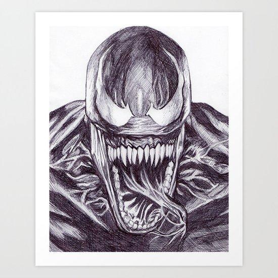 Freaky Venom Art Print