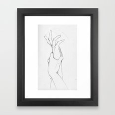 Another Hand Sketch Framed Art Print