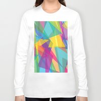 transparent Long Sleeve T-shirts featuring Transparent Triangles by AleyshaKate