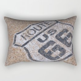 The mythical Route 66 sign in California, USA. Rectangular Pillow