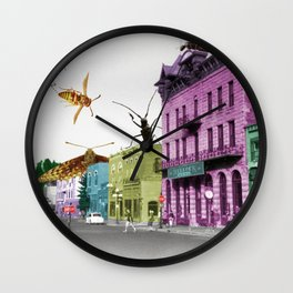 Insect Attack Wall Clock