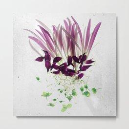 Alien Plant Botanical Blueprints Metal Print